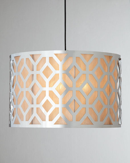 Large Geometric Three-Light Pendant