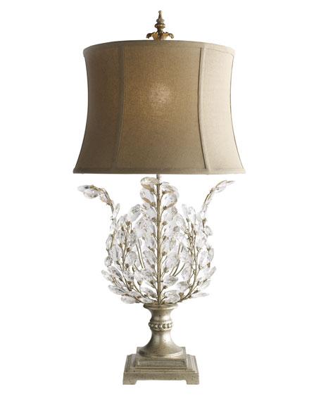 """Upside-Down"" Glass Leaf Lamp"