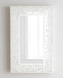 Capiz Fretwork Mirror