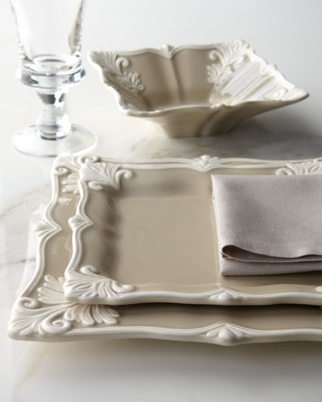 & 12-Piece Square Baroque Dinnerware Service