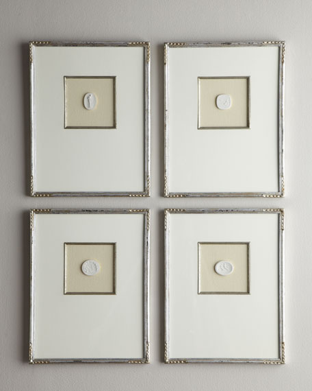 Four Medium Framed Intaglios