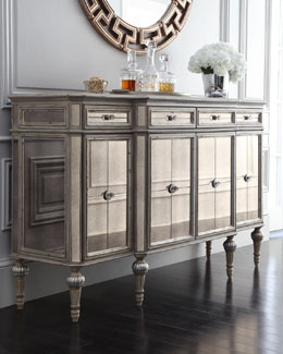 Dresden Four-Door Mirrored Console