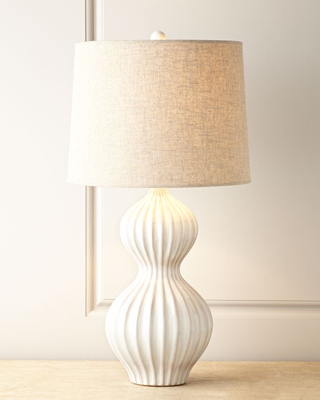 White ceramic lamp horchow quick look mozeypictures Gallery