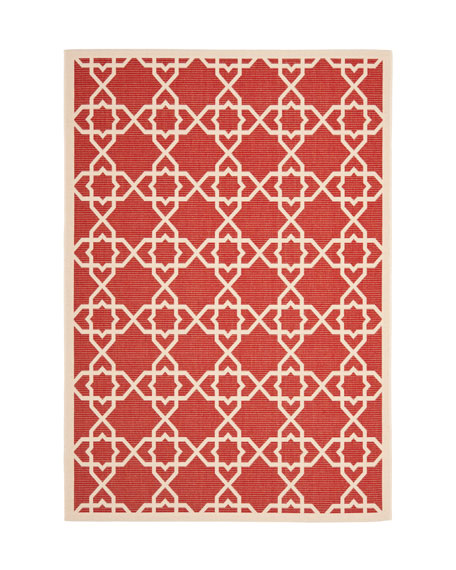 "Locking Hex Rug, 6'7"" Round"