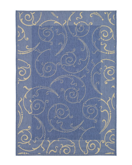 Giddings Scroll Rug, 4' x 5'7""