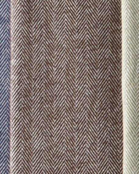 Brushed Cotton Herringbone-Weave Throw