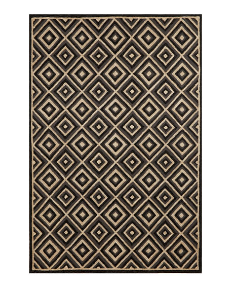 "Diamonds Galore Outdoor Rug, 7'6"" x 9'6"""