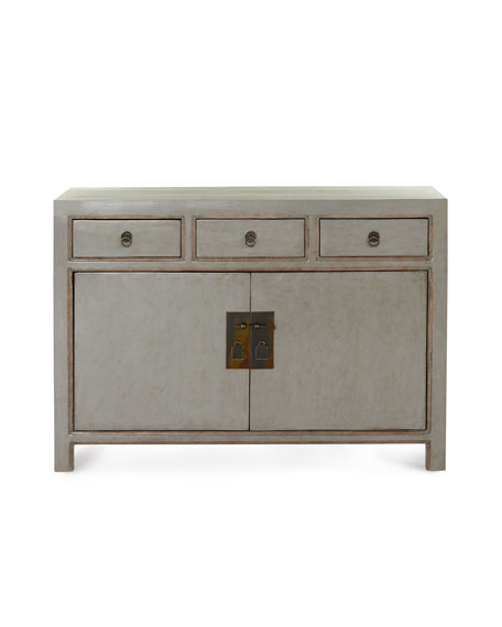 Antique Lacquered Side Cabinet