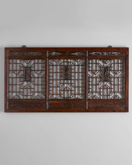 Antique Wooden Wall Panel