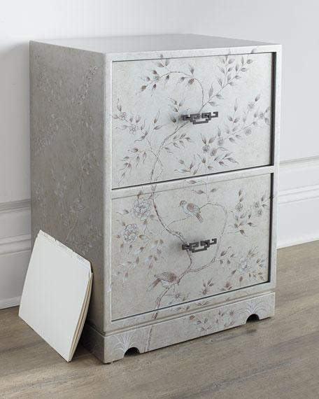 Floral Bird File Box