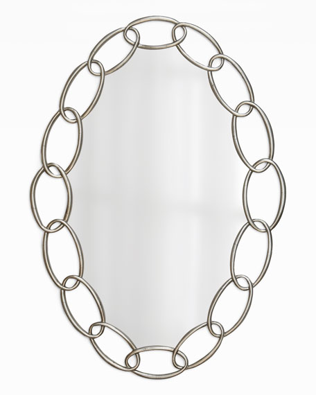 "Oval ""Chain-Link"" Mirror"