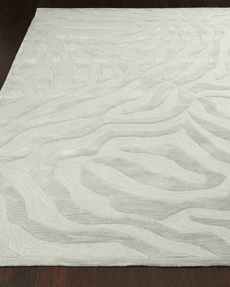"Silver Zebra Rug, 5' x 7'9"""