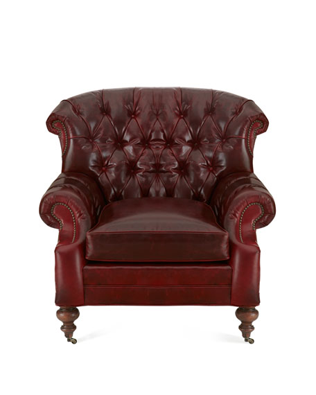 Liberty Creek Collection Leather Bergere Chair