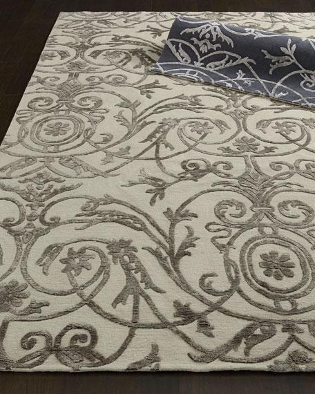 Sicily Scroll Rug, 6' x 9'