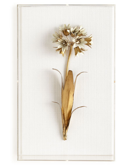 Original Gilded Agapanthus Study on Linen