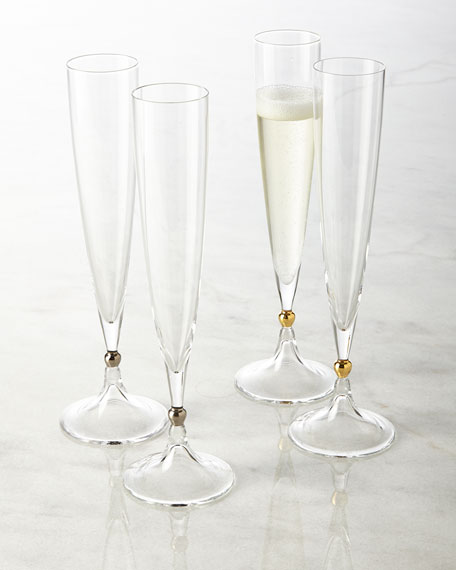 Two Remembrance Champagne Flutes