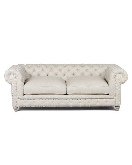 "Warner Linen Collection 90"" Sofa"