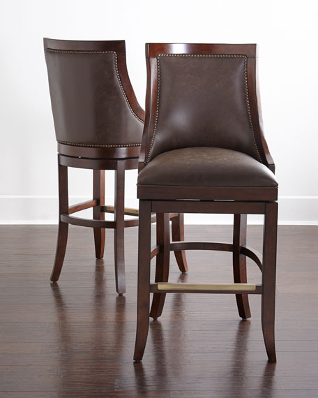Logan Leather Swivel Barstool & Logan Leather Swivel Stools islam-shia.org