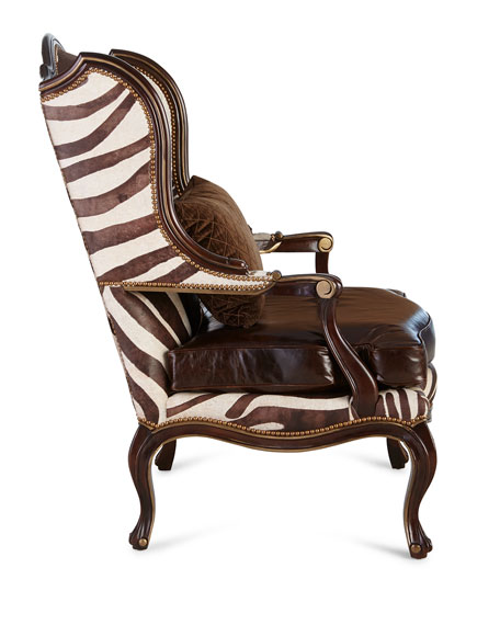 Zena Zebra-Print Chair