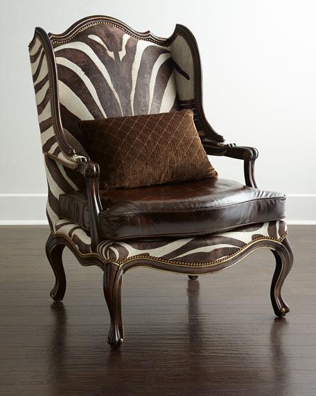 Massoud Zena Zebra Print Chair