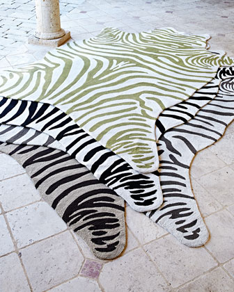 Maya Zebra Indoor/Outdoor Rug  8' x 10'