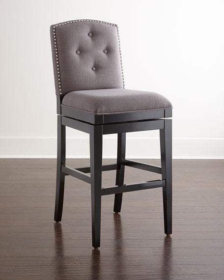 pepperton tufted swivel counter stool