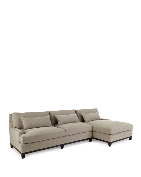 Rena Right-Facing Sectional Sofa 129.5""