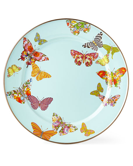 MacKenzie-Childs Butterfly Garden Sky Charger Plate