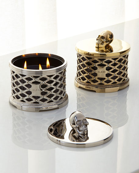 Skull Lattice with Crystals Scented Candle