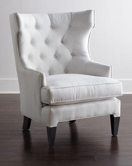white tufted chair. White Tufted Chair