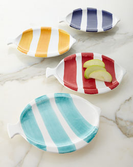 Four Fish-Shaped Snack/Dessert Plates