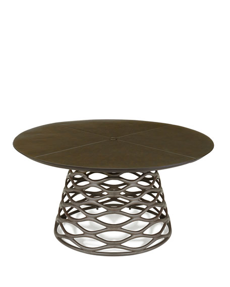 Industrial Renaissance Outdoor Coffee Table: Industrial Renaissance Table & Outdoor Upholstered Chair