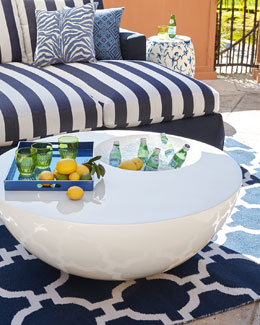 White Outdoor Beverage Table