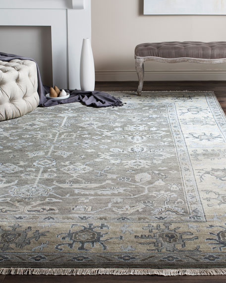 Micah Oushak Hand Knotted Rug, 9' x 12'