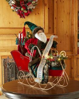 Highland Fling Santa in Sleigh