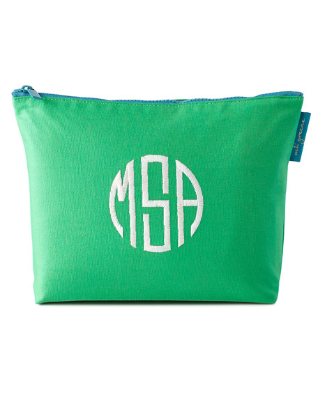 Monogrammed Large Zip Bag