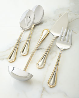5-Piece Gold Regent Bead Serving Set