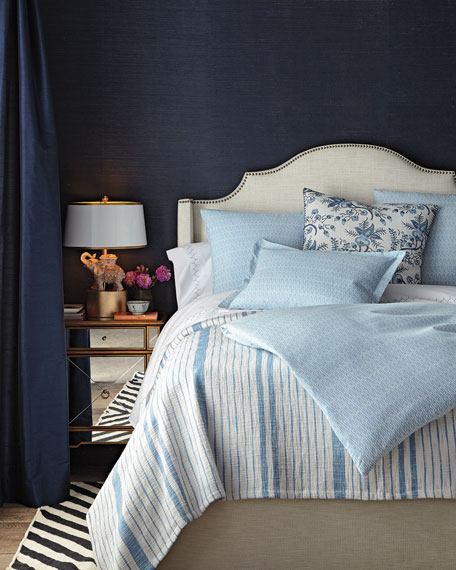 Queen Diamond Chambray Duvet Cover