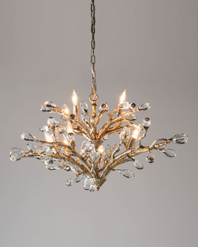 Budding Crystal 10-Light Chandelier