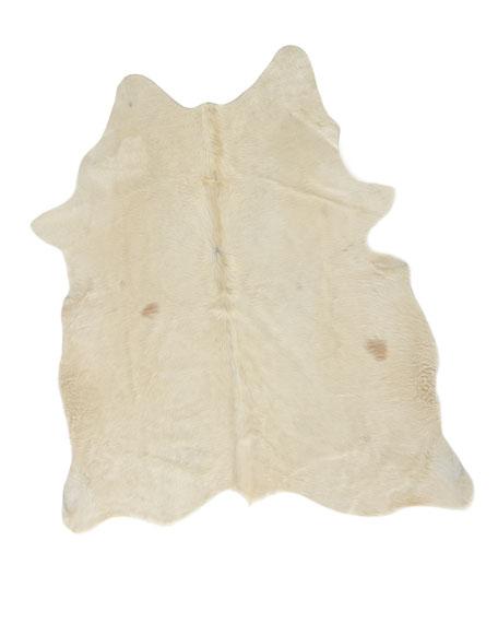 CJ White Hairhide Rug, 5' x 8'