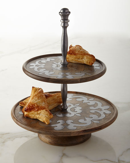 Heritage Two-Tiered Serving Stand