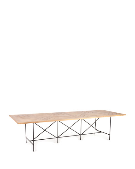"""Avery Neoclassical 122""""L Outdoor Dining Table"""