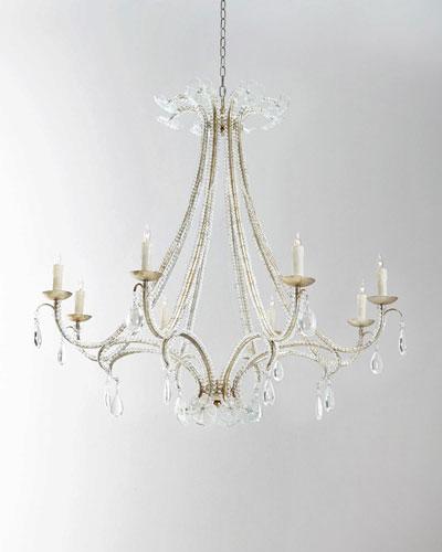 Glass Flower 8-Light Chandelier