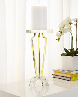 Glass Candleholder