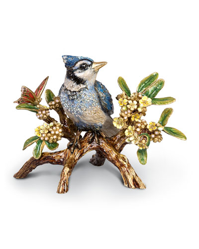 Blue Jay on Branch Figurine