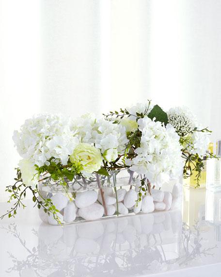 Marbled Whites Faux-Floral Arrangement