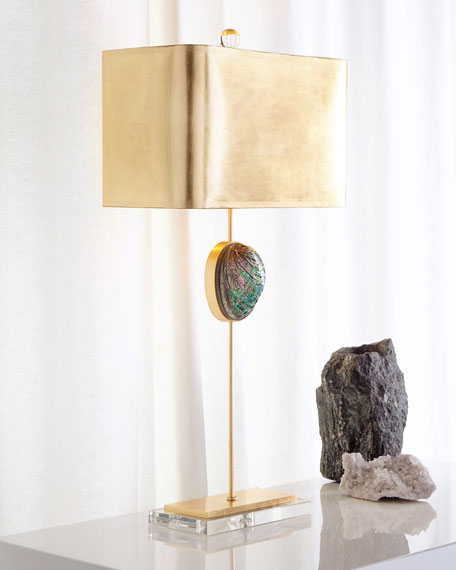Abalone Buffet Lamp