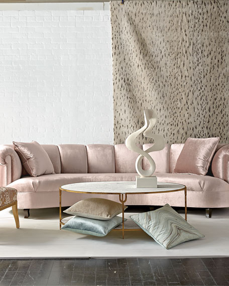 Audrey Channel-Tufted Sofa 123""