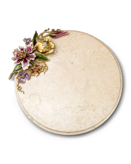 Floral Cheese Board