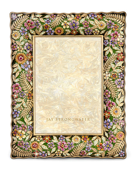 "Floral Ruffle-Edge 5"" x 7"" Picture Frame"